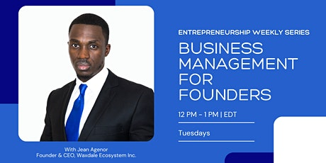 Business Management for Founders tickets