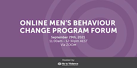 No to Violence: Online Men's Behaviour Change Program Forum tickets