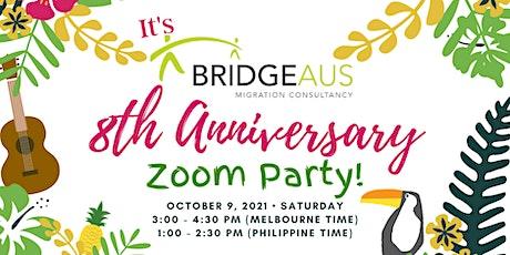 BridgeAus 8th Year Anniversary Zoom  Party! tickets