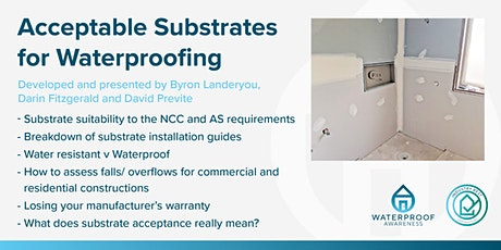 Acceptable Substrates for Waterproofing tickets