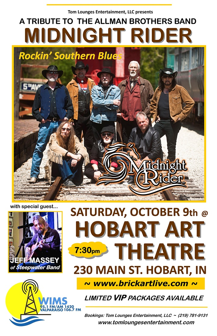 Allman Brothers Tribute: Midnight Rider with special guest, Jeff Massey image