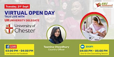 Virtual Open Day of the University of Chester biglietti