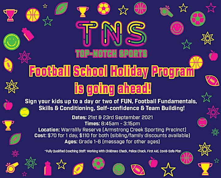 September Football School Holiday Programs image