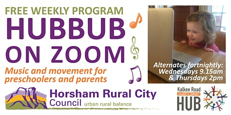 Hubbub ON ZOOM - Free Music & Movement for the Early Years tickets