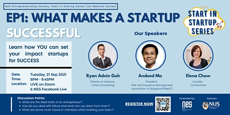 NES Start In Startup Series: What Makes a Startup Successful tickets