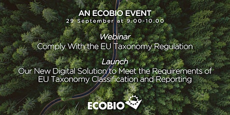 Webinar & Launch: Comply With the EU Taxonomy Regulation tickets