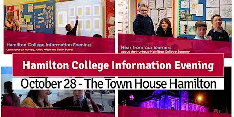 Hamilton College Information Evening 2021 tickets
