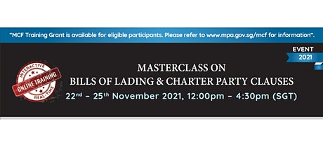 Masterclass on Bills of Lading & Charter Party Clauses tickets