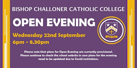 Bishop Challoner Catholic College Open Evening 2021 tickets