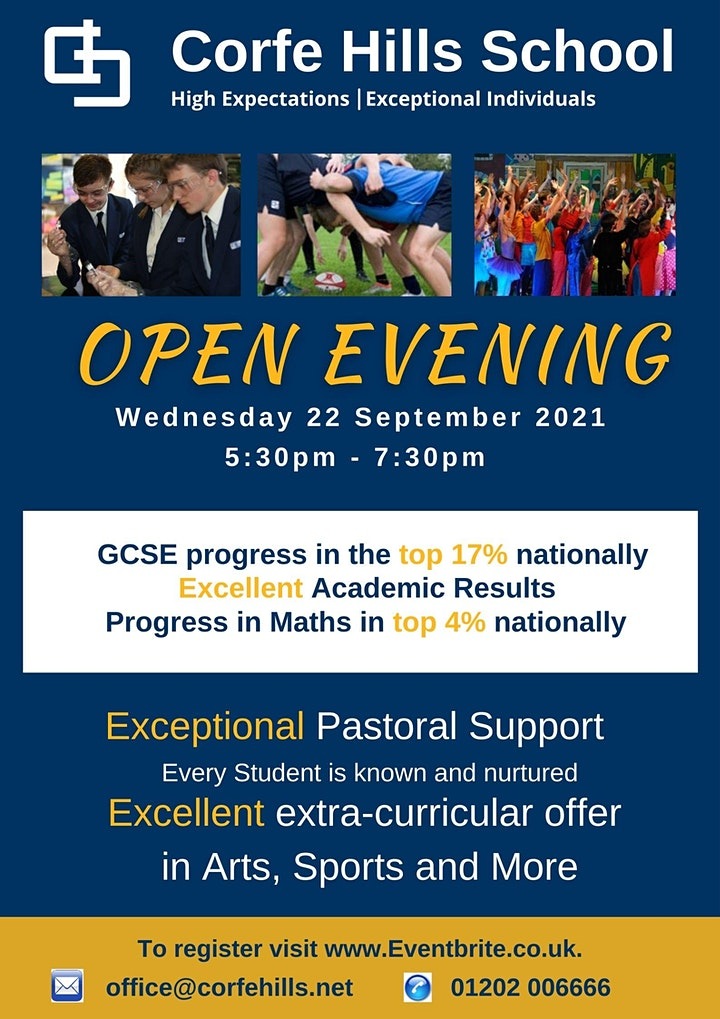 Corfe Hills School Open Evening 2021 image