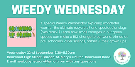 Weedy Wednesday Outdoor Playgroup tickets