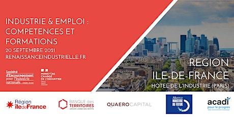 INDUSTRIE & EMPLOI : COMPETENCES ET FORMATION en Ile-de-France billets