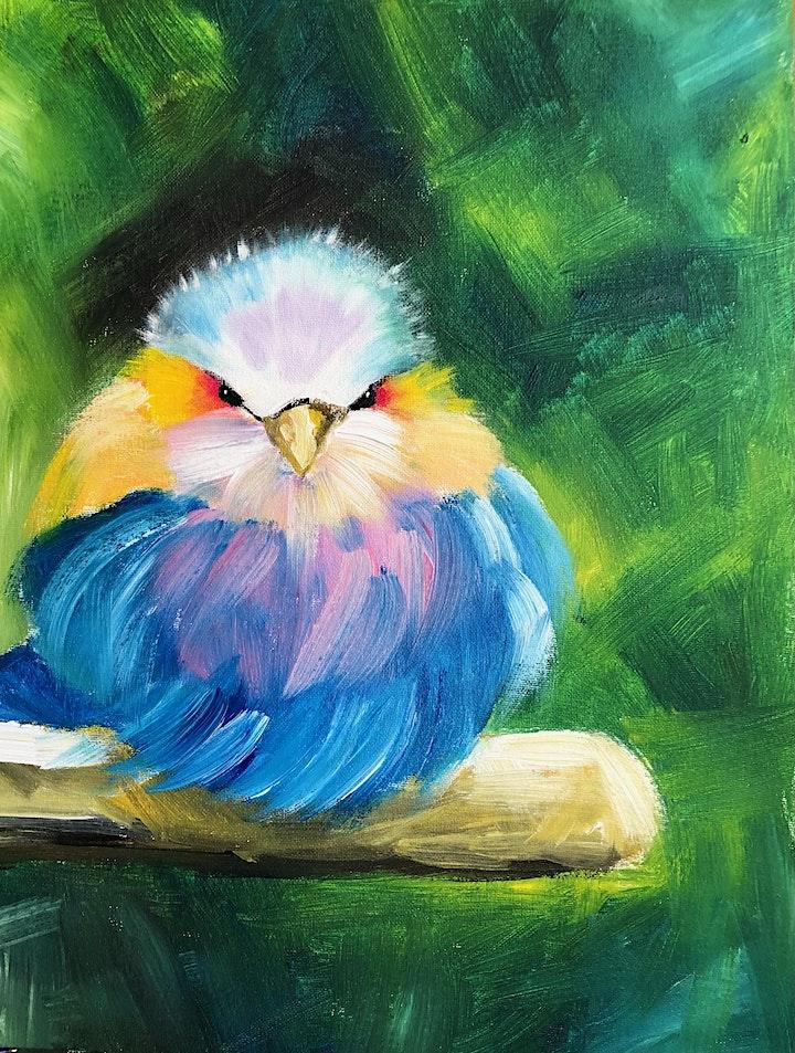 ONLINE Paint Along @ Home -- Blue Bird image