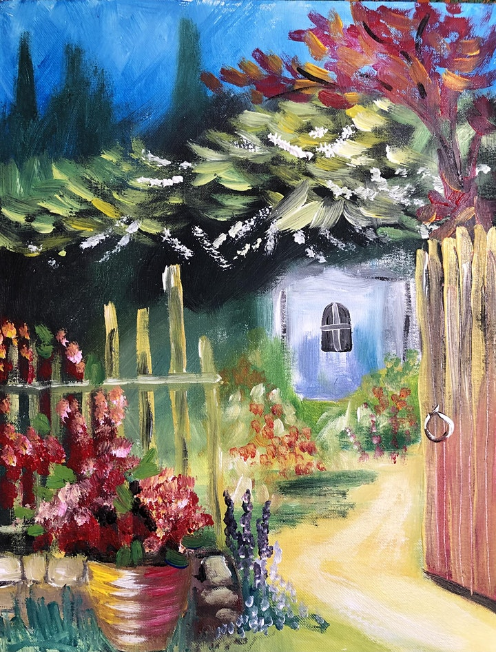 ONLINE Paint Along @ Home -- Garden Gate image
