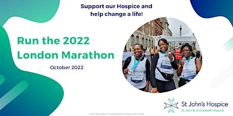 2022 TCS London Marathon - St John's Hospice London Charity Places tickets