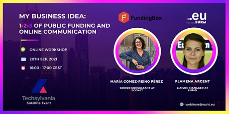 My business idea: 1-2-3 of public funding and online communication tickets