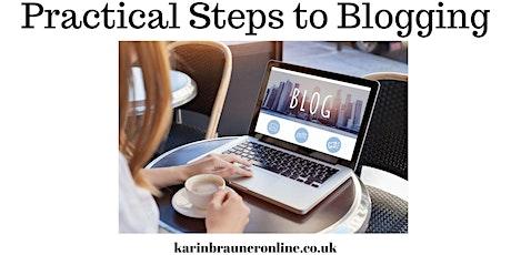 Practical Steps to Blogging Part 1 - Karin Brauner tickets