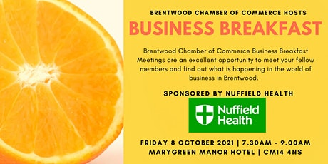 October 2021 Brentwood Chamber of Commerce Business Breakfast tickets