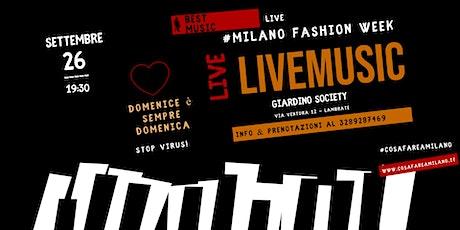 MILANO FASHION WEEK 2021 - Aperitivo in Giardino Nascosto con Piano Bar biglietti