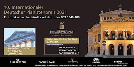 10. Internationaler Deutscher Pianistenpreis 2021 Tickets
