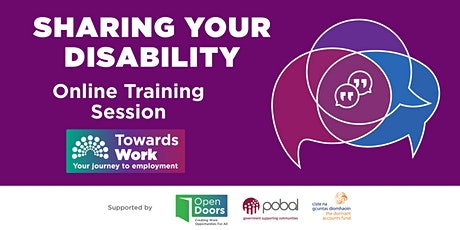 Towards Work Training- Sharing Your Disability tickets