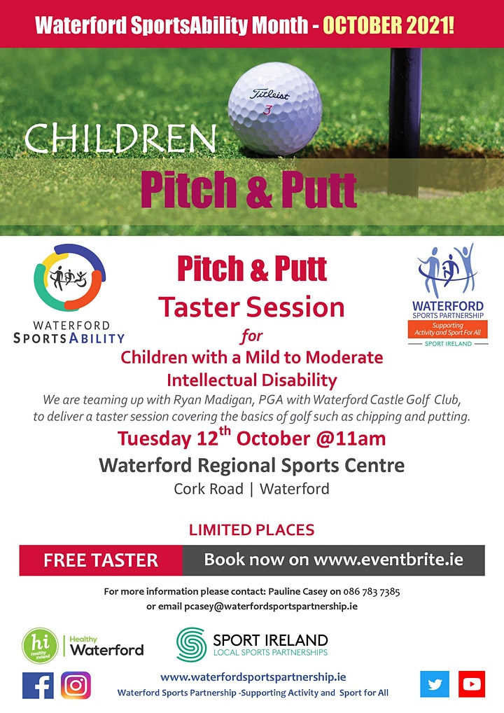 Waterford SportsAbility - Pitch &  Putt for Children Tues 12th October image