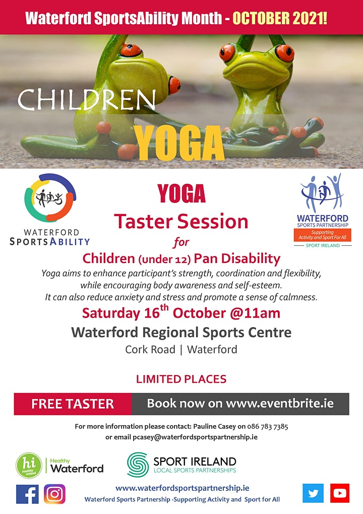 Waterford SportsAbility - Yoga For Children with a Disability Sat 16th Oct image