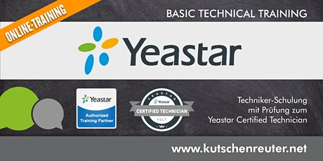 "Yeastar Technikerschulung  S-Serie / ""Yeastar Certified Technician"" Tickets"