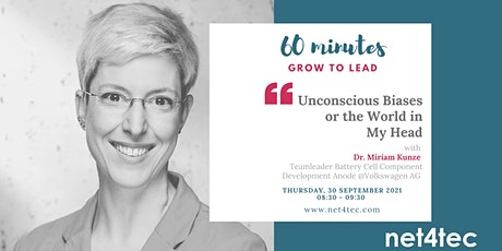 60 minutes GROW TO LEAD - Unconscious Biases or the World in My Head tickets