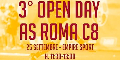 3^ OPEN DAY AS ROMA C8 (slot h.11.30) biglietti