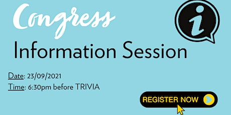 Congress Information Session tickets