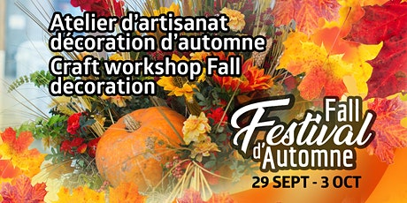Atelier d'artisanat /Craft workshop tickets