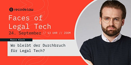 Faces of Legal Tech: Marco Klock Tickets
