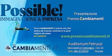 Presentazione Premio Cambiamenti tickets