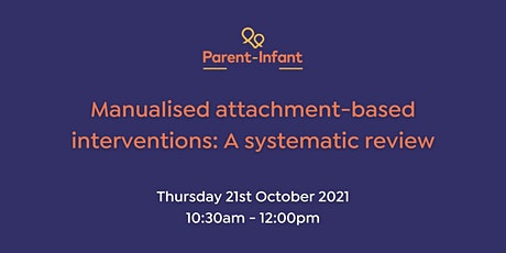 Manualised attachment-based interventions: A systematic review tickets