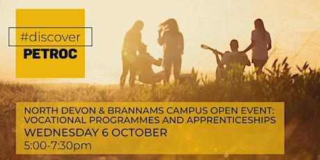 North Devon & Brannams Campus Open Event: Vocational & Apprenticeships tickets