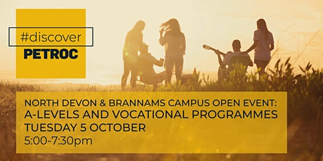 North Devon & Brannams Campus Open Event: A-levels & Vocational programmes tickets