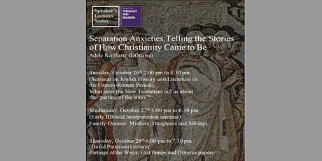 Separation Anxieties: Telling the Stories of How Christianity Came to Be tickets