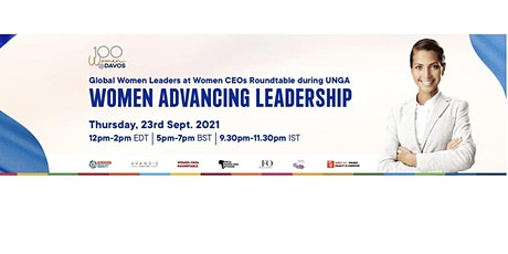 """""""Women Advancing Leadership""""- Women CEOs Roundtable during UNGA tickets"""