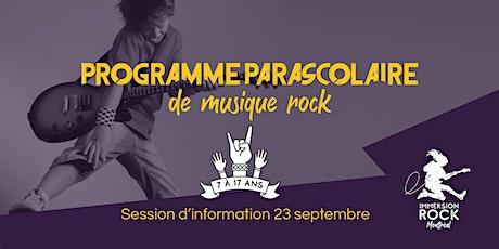 Session d'information - Programme d'activité parascolaire - Automne 2021 billets