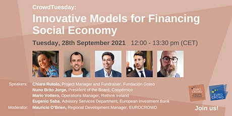 CrowdTuesday: Innovative Models for Financing Social Economy tickets