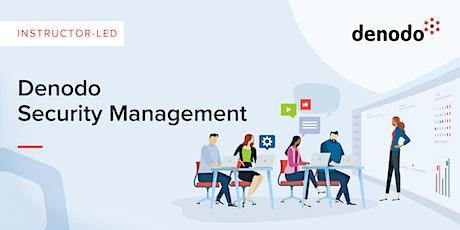 Denodo Security Management - Virtual - Nov 10th-11th tickets