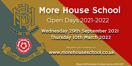 More House School, Frensham - Open Day 10th March PM session tickets