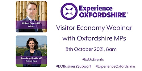 Visitor Economy Webinar with Oxfordshire MP's tickets