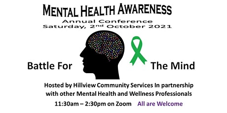 """October 2021 Mental Health  & Wellbeing Conference, """"Battle For The Mind """" tickets"""