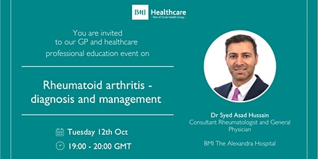 Rheumatoid arthritis - diagnosis and management tickets