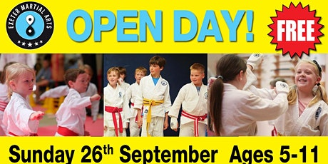 Exeter Martial Arts Open Day Sunday 26th September tickets
