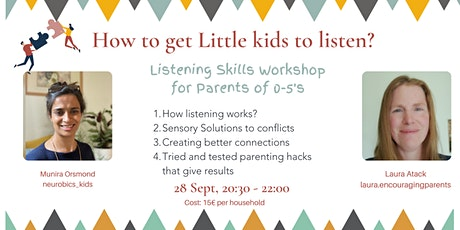 How to get your (little) kids to listen tickets
