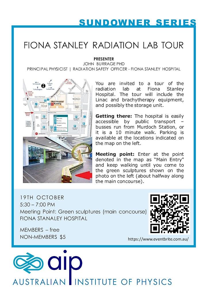AIP WA Sundowner: Fiona Stanley Radiation Lab Tour image