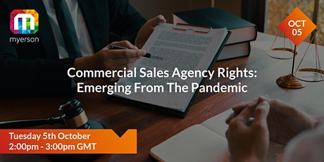Commercial sales agency rights: emerging from the Pandemic tickets